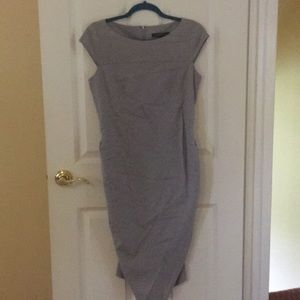Gray Cynthia Steffe dress w beautiful detailing